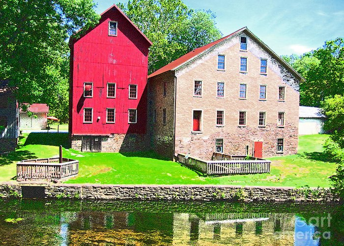 Photography Greeting Card featuring the photograph Prallsville Mill by Addie Hocynec