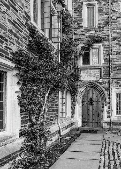 Princeton University Greeting Card featuring the photograph Princeton University Foulke Hall II by Susan Candelario