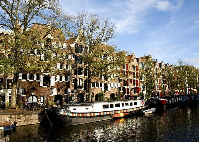 Prinsengracht Greeting Card featuring the photograph Prinsengracht by Fabrizio Troiani