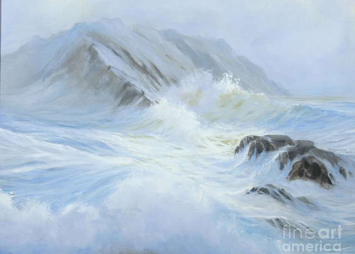 Seascape Greeting Card featuring the painting Quiet Moment II by Glenn Secrest