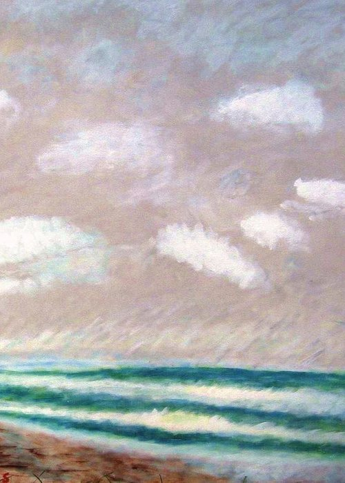 Acrylic Painting Greeting Card featuring the painting Huge Sky by John Scates