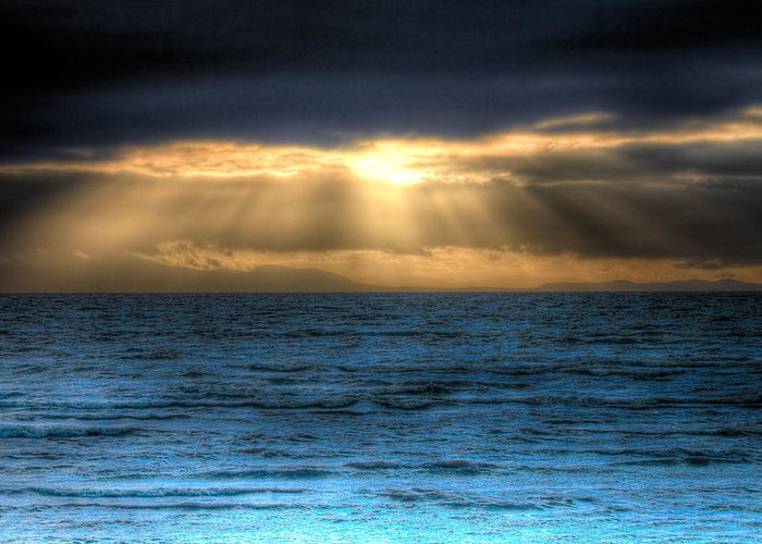 Rays Greeting Card featuring the photograph Rays Of Light 2 by Naman Imagery