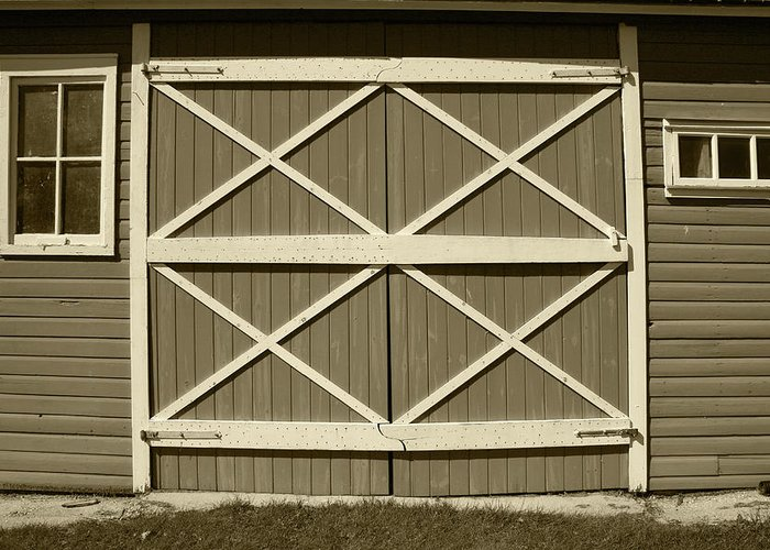 Door Greeting Card featuring the photograph Red Barn Door by Robert Hamm