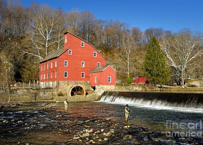 Mill Greeting Card featuring the photograph Red Mill by Paul Fell