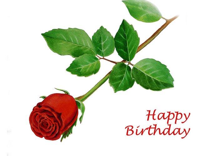 Red Rose Happy Birthday Greeting Card For Sale By Irina Sztukowski