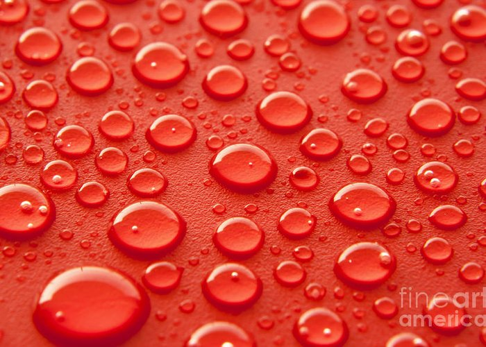 Water Droplets Greeting Cards