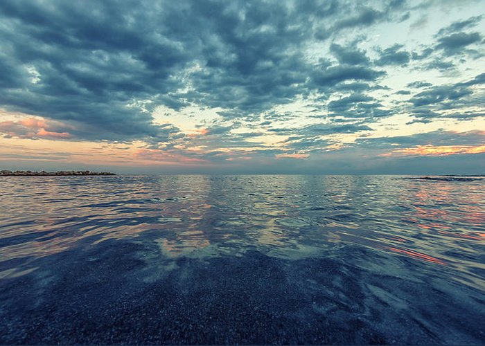 Sea Greeting Card featuring the photograph Reflections by Stelios Kleanthous