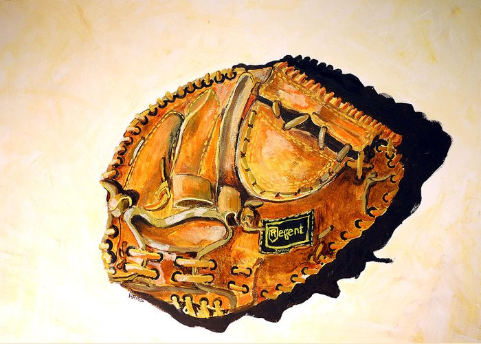 Baseball Greeting Card featuring the painting Regent Japan by Jame Hayes