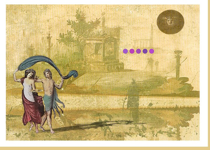 Roman Greeting Card featuring the digital art Roman Holiday Iv by Alfred Degens