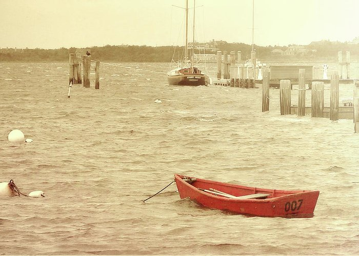Nantucket Greeting Card featuring the photograph Rough Seas by JAMART Photography