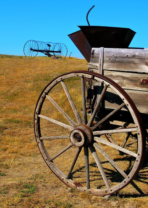 Wagon Greeting Card featuring the photograph Rustic Wagon by Perry Webster