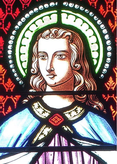Saint Annes Greeting Card featuring the digital art Saint Anne's Windows by Jim Proctor