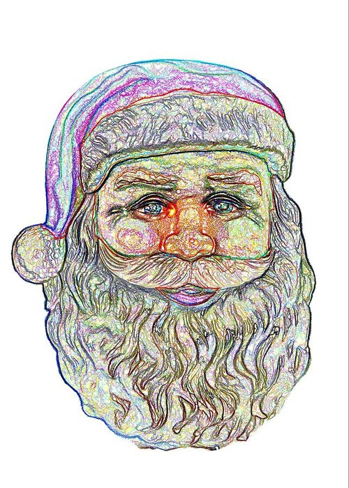 Santa Greeting Card featuring the photograph Santa by Ludwig Keck
