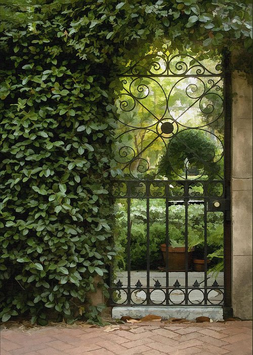 Architecture Greeting Card featuring the photograph Savannah Gate by Sharon Foster