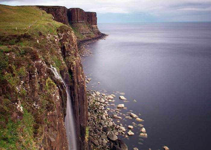 Scotland Greeting Card featuring the photograph Scotland Kilt Rock by Nina Papiorek