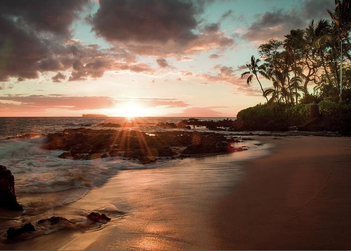 Landscape Greeting Card featuring the photograph Secret Beach Maui by Seascaping Photography