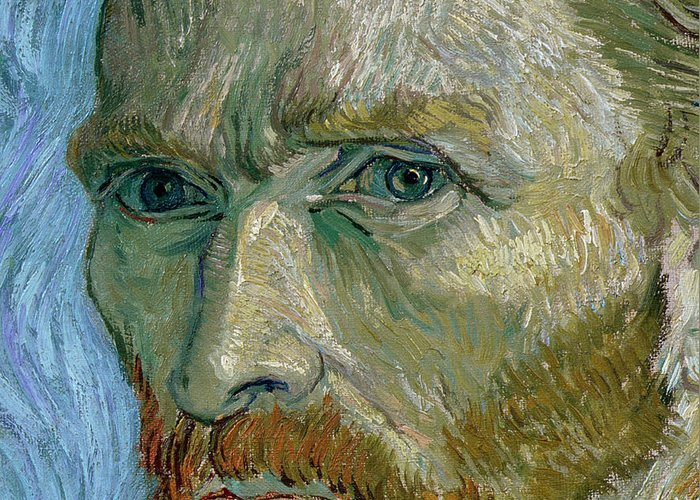 Self Greeting Card featuring the painting Self-portrait by Vincent Van Gogh