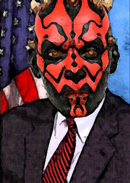 Star Wars Greeting Card featuring the digital art Senator Darth Maul by Eric Forster