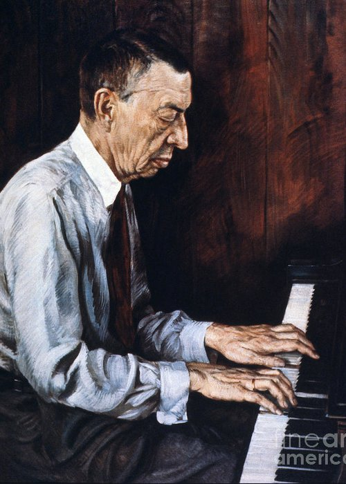 19th Century Greeting Card featuring the painting Sergei Rachmaninoff by Granger