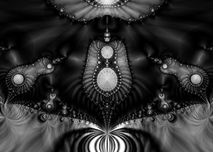 Fractal Greeting Card featuring the digital art Shell Realm by Devalyn Marshall
