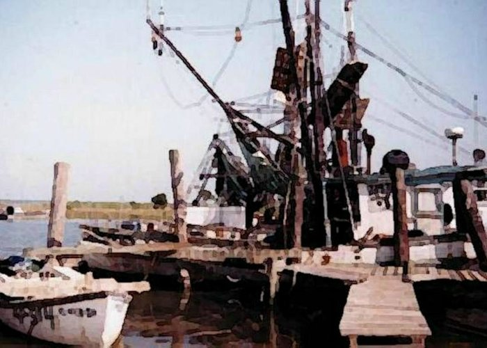 Boat Greeting Card featuring the photograph Shrimp Boat by B L Qualls