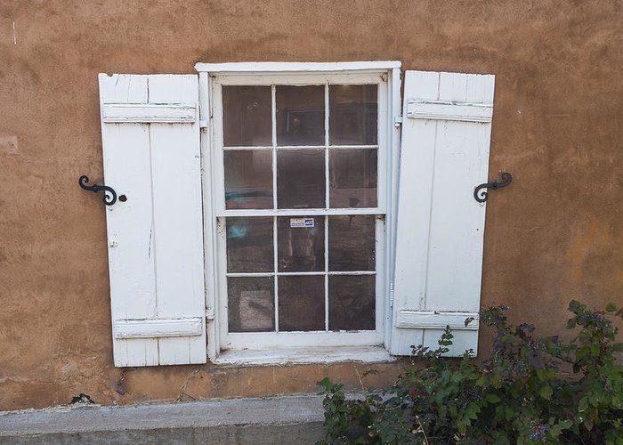 New Mexico Greeting Card featuring the photograph Shutters by Gary Lengyel
