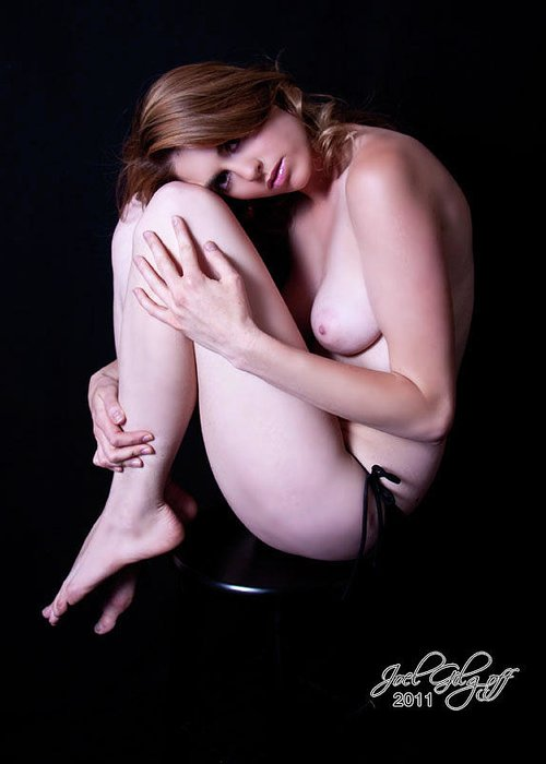 Nude Greeting Card featuring the photograph Sittin Pretty by Joel Gilgoff