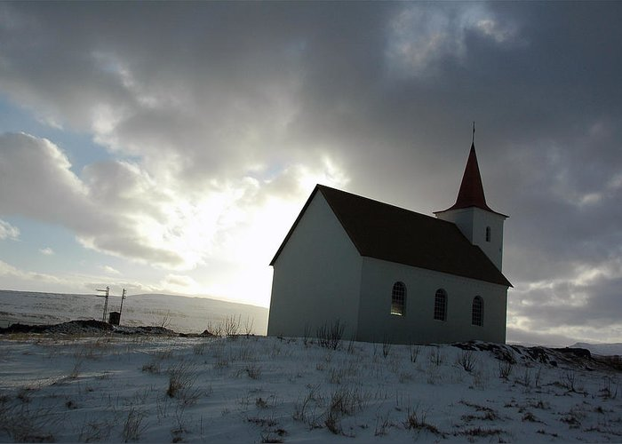 Iceland Greeting Card featuring the photograph Sliver Of Light by Jonelle Vette