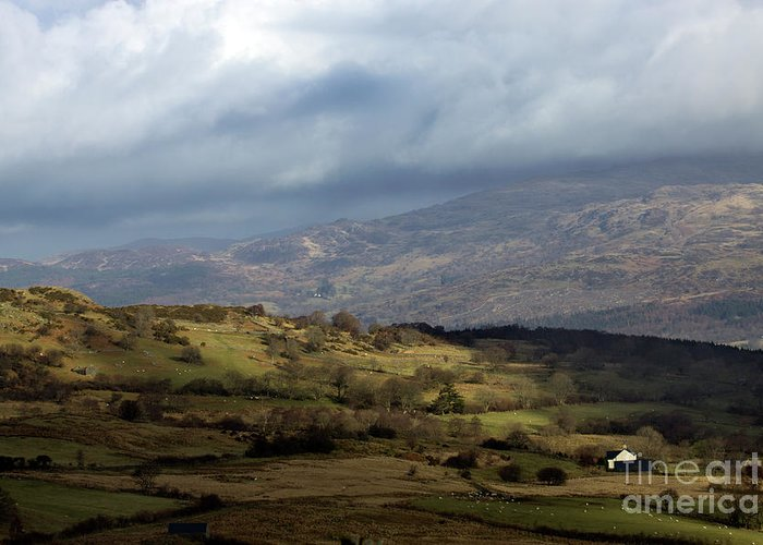 Great Britain Greeting Card featuring the photograph Snowdonia by Angel Ciesniarska