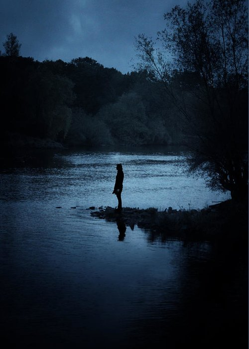 Solitary Greeting Card featuring the photograph Solitude 1 by Cambion Art