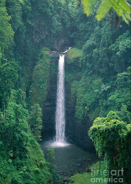 C1767 Greeting Card featuring the photograph Sopoaga Falls by Kyle Rothenborg - Printscapes
