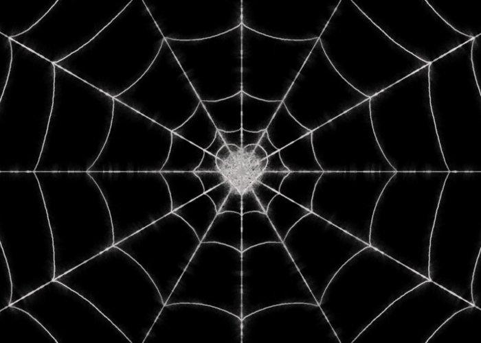 Spider Greeting Card featuring the digital art Spider No.2 by Abdulaziz Butaiban