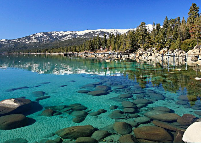 Lake Tahoe Greeting Card featuring the photograph Spring Clarity by Sean Sarsfield