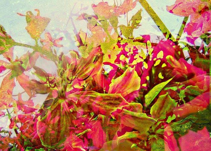 Greeting Card featuring the digital art Springtime by Meiers Daniel
