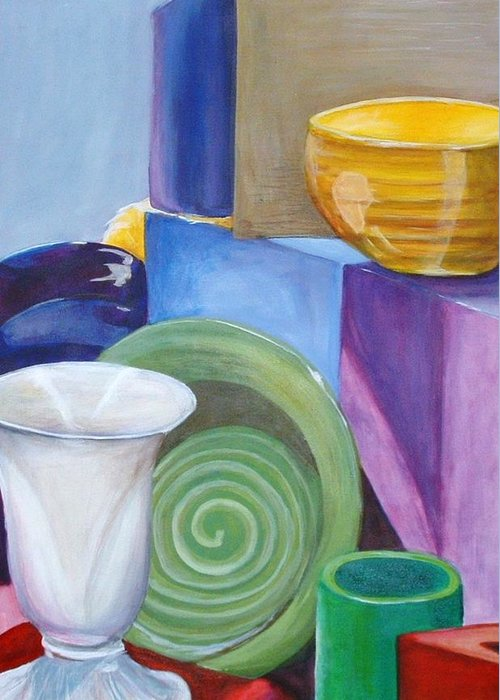 Still Life Painting Greeting Card featuring the painting Still Life by Andrea Darlington