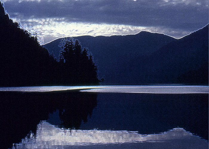 Abstract Greeting Card featuring the photograph Still Mountain Lake 2 by Lyle Crump