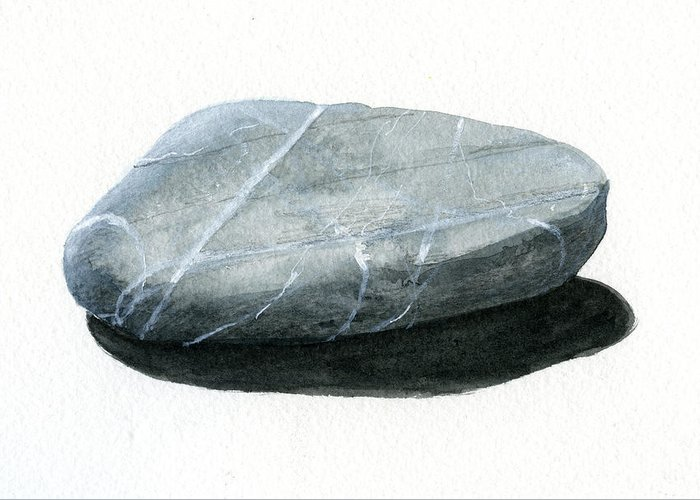 Stone Greeting Card featuring the painting Stone by Lincoln Seligman