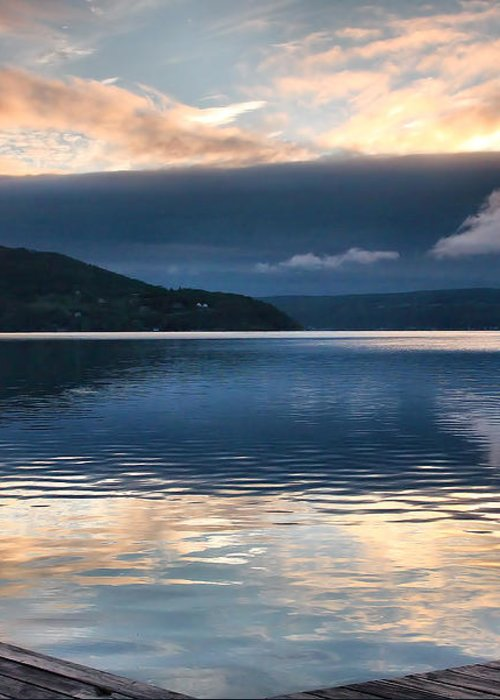 Keuka Lake Greeting Card featuring the photograph Storm Clearing by Steven Ainsworth