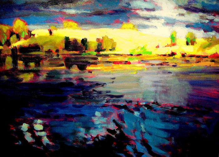 Landscape Paintings Greeting Card featuring the painting Storms End by Brian Simons