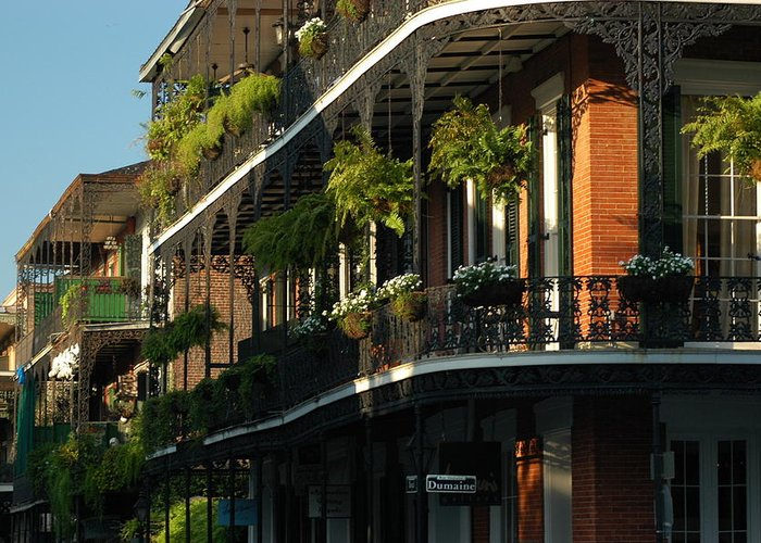 New Orleans Greeting Card featuring the photograph Streets Of New Orleans by Lori Mellen-Pagliaro