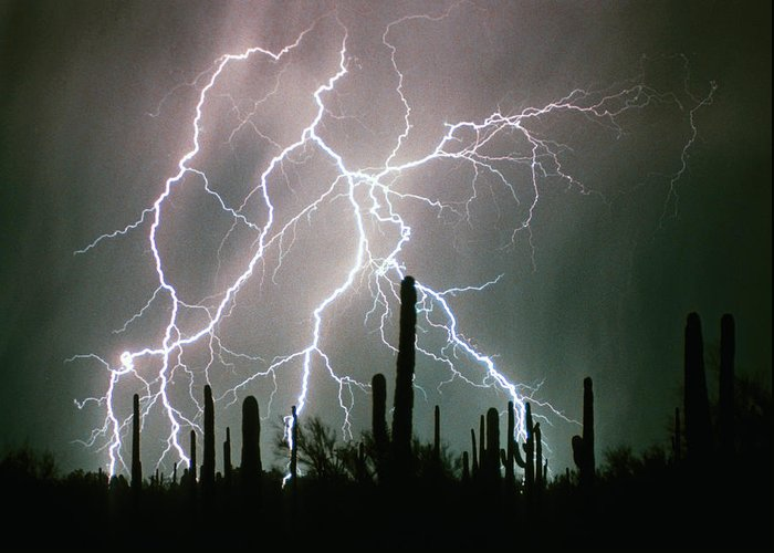 Lightning Greeting Card featuring the photograph Striking Photography by James BO Insogna