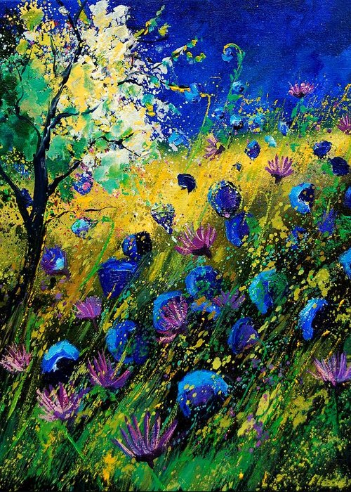 Poppies Greeting Card featuring the painting Summer 450208 by Pol Ledent