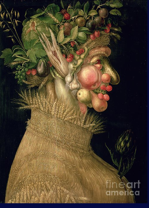 Summer Greeting Card featuring the painting Summer by Giuseppe Arcimboldo