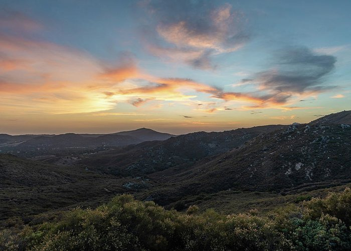 Sunset Greeting Card featuring the photograph Summer Overlook by TM Schultze