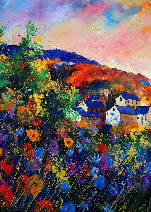 Landscape Greeting Card featuring the painting Summer by Pol Ledent