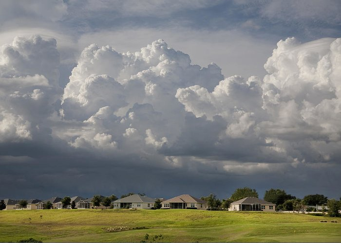 Storm Clouds Greeting Card featuring the photograph Summer Storm In Florida by Carl Purcell