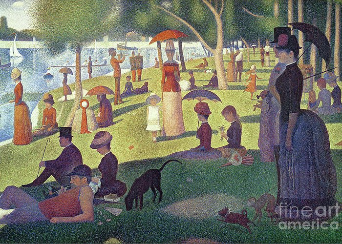 La Grande Jatte Greeting Cards