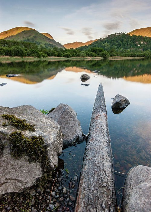 Landscape Greeting Card featuring the photograph Sunrise at Ullswater, Lake District, North West England by Anthony Lawlor