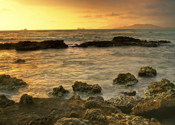 Oahu Greeting Card featuring the photograph Sunrise Kaneohe by Michael Peychich
