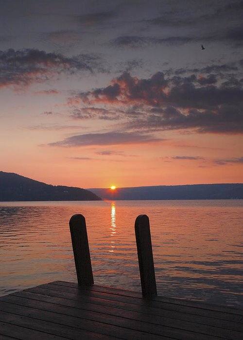 Dawn Greeting Card featuring the photograph Sunrise Over Keuka V by Steven Ainsworth